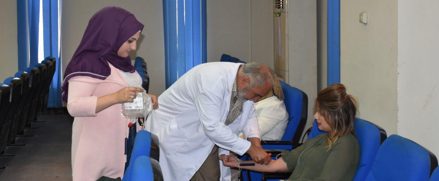 خدمة المجتمع – كلية هندسة المعلومات تنظم حملة للتبرع بالدم على مستوى الجامعة