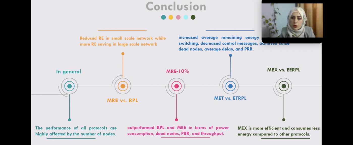 مناقشة رسالة الماجستير : Performance Improvement of RPL Protocol For IOT Network